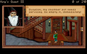 Being bossed around by an Evil Sorceror in Kings Quest III